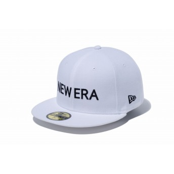 NEW ERA ニューエラ 59FIFTY NEW ERA ホワイト × ブラック ベースボールキャップ キャップ 帽子 メンズ レディース 7 (55.8cm) 12037938 NEWERA