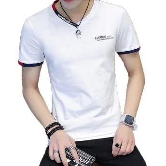 Heaven Days(ヘブンデイズ) Tシャツ 半袖 カットソー Vネック テキストプリント メンズ 1804D0733