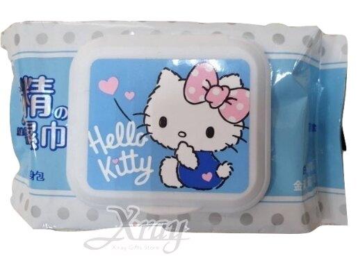 Hello Kitty 30抽附蓋酒精柔濕巾,加蓋濕紙巾/嬰兒濕紙巾/隨身包,X射線【C503731】
