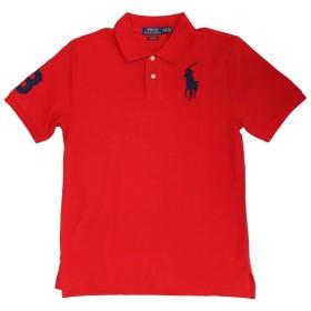(ポロ ラルフローレン)POLO Ralph Lauren ポロシャツ BGIPONY BOYSサイズ レッド×ネイビー XL(18-20) [並行輸入品]