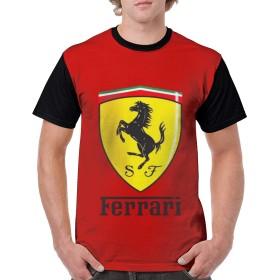 FERRARI 4 メンズ 半袖 夏服 Tシャツ 吸水速乾 無地 3Dプリント 上質 カットソー ベーシックTシャツ おしゃれ シンプル おしゃれ 人気 軽い 柔らかい シルエット おしゃれ ファッション 薄手 柔らかい おおきいサイズ 快適