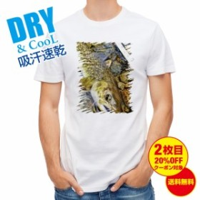 Tシャツ ネイティブトラウト 釣り 魚 ルアー 送料無料 メンズ 文字 春 夏 秋 インナー 大きいサイズ 洗濯