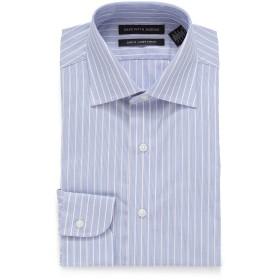 【86%OFF】ストライプ スプレッドカラー スリム フィットシャツ ライトブルー 16.5/32