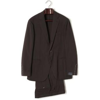 【70%OFF】LARDINI ノッチドラペル スーツ ブラックストライプ 52