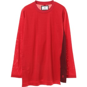 FIT MIHARA YASUHIRO LAYERED FRONT LONG-T Tシャツ・カットソー,RED