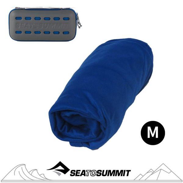 【Sea to Summit 澳洲 口袋型快乾毛巾(盒裝)M《艷藍》】STSAPOCT/快乾毛巾/毛巾