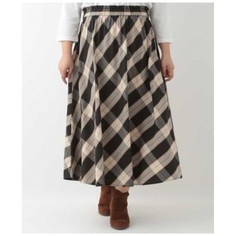 eur3 / 【大きいサイズ】ハウスチェックギャザースカート