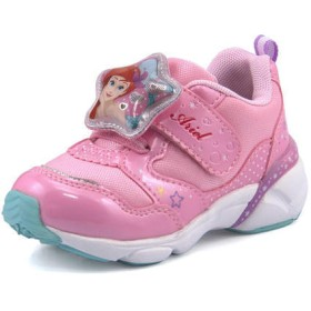 Disney ディズニー アリエル キッズ ライトアップスニーカー【光る靴】 DN C1244 ストロベリー 運動靴 ガールズ