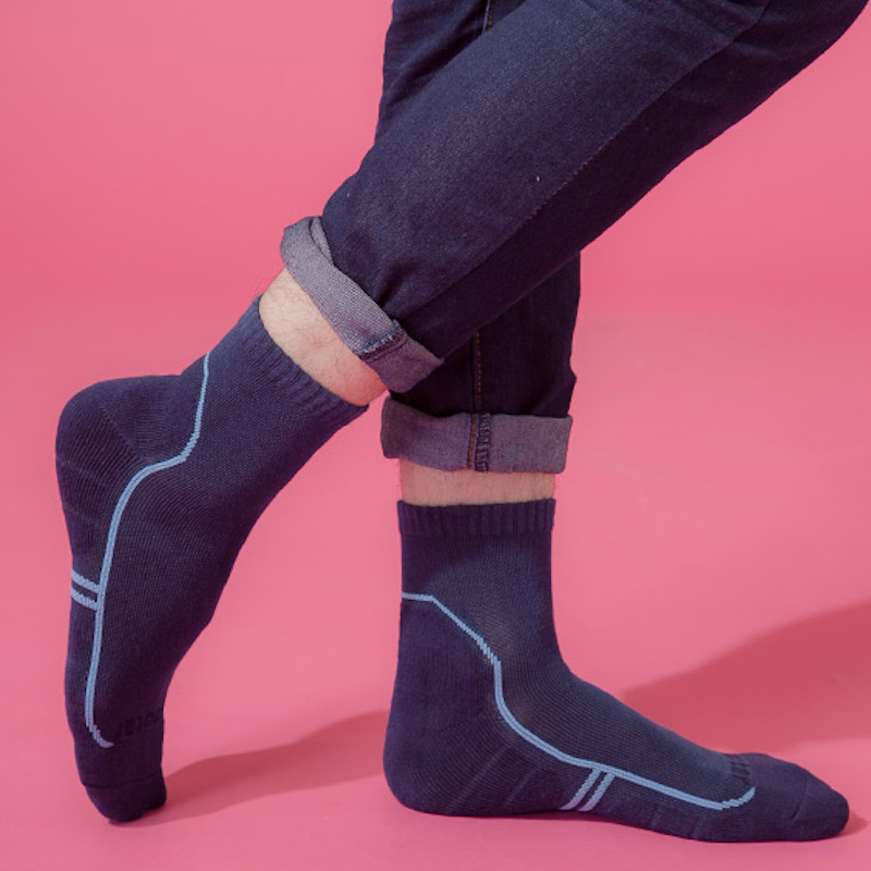 Footer流線型氣墊減壓科技襪