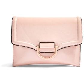 《期間限定セール開催中!》TOPSHOP レディース ハンドバッグ ピンク ポリウレタン 100% CARLY PINK CRINKLE CLUTCH BAG