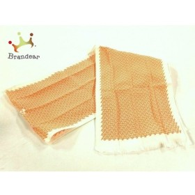 エルメス HERMES スカーフ 新品同様 - 白×オレンジ      値下げ 20190914