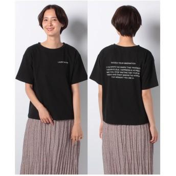 ehka sopo ロゴプリントTシャツ(ブラック)【返品不可商品】