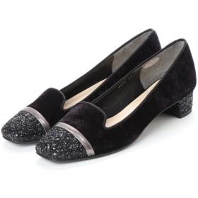 アンタイトル シューズ UNTITLED shoes オペラパンプス (ブラックベルベットコンビ)