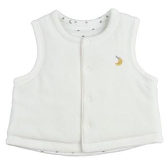 新生児 ベスト リバーシブル仕様 クリーム ベビー・キッズウェア 新生児・乳児(50~80cm) おくるみ・ベスト (56)