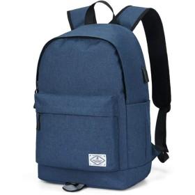 学生のためのバックパックバッグ男の子女の子男若者男性キャンパスティーンエイジャーレジャースポーツ旅行軽量防水バックパックBAACD-blue-one