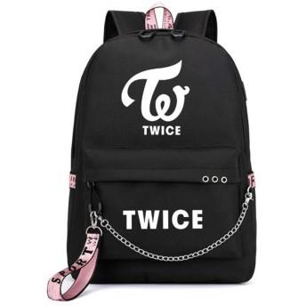 バッグ バックバッグ リュック 大容量 Backpack ログ付け ブラック ピンク おしゃれ 応援グッズ 男女兼用 (ブラック04)