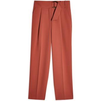 《セール開催中》TOPSHOP レディース パンツ 赤茶色 6 ポリエステル 100% WILMA BELT PEG