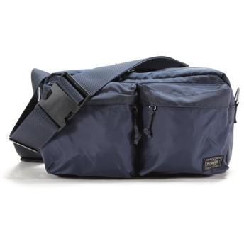 カバンのセレクション 吉田カバン ポーター フォース ウエストバッグ ボディバッグ メンズ ミリタリー B5 PORTER 855 07418 ユニセックス ネイビー フリー 【Bag & Luggage SELECTION】