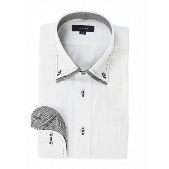 [マルイ] 形態安定レギュラーフィット2枚衿ドゥエハンドステッチ長袖シャツ/タカキュー(TAKA-Q)