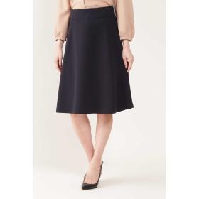 NATURAL BEAUTY ◆[ウォッシャブル]ダブルクロスフレアスカート ひざ丈スカート,ネイビー