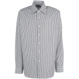 《期間限定セール開催中!》LEXINGTON メンズ シャツ スチールグレー 44 コットン 100%