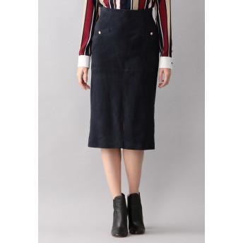LOVELESS 【LOVELESS】スウェードタイトスカート その他 スカート,ネイビー