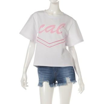サマンサベガ Cal logo オーバーサイズTシャツ ホワイト