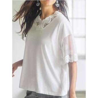 Ranan ラナン レースデザインTシャツ