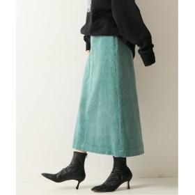 スピック&スパン ≪予約≫フトコールフロントZIPスカート◆ レディース グリーン 40 【Spick & Span】