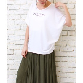 ソーシャルガール シンプルドルマンtシャツ レディース ホワイト系2 L 【SocialGIRL】