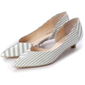 アンタイトル シューズ UNTITLED shoes パンプス (ライトグレーエナメルコンビ)