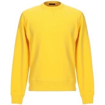 《期間限定セール開催中!》BELSTAFF メンズ スウェットシャツ イエロー XL コットン 100%