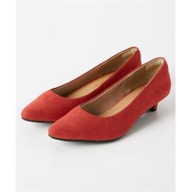 ポインテッドトゥローヒールパンプス(低反発中敷)(ワイズ4E) パンプス, Pumps, 浅口皮鞋, 淺口皮鞋