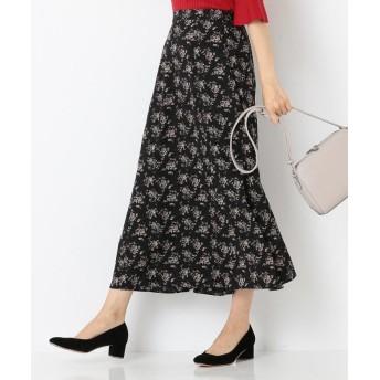 any SiS エニィスィス デシンフラワープリント スカート