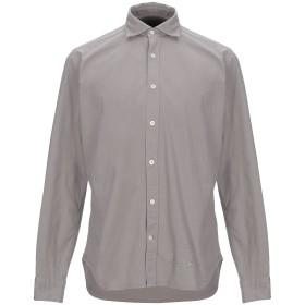《期間限定セール開催中!》TINTORIA MATTEI 954 メンズ シャツ ライトグレー 40 コットン 97% / ポリウレタン 3%