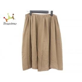 ウィムガゼット whim gazette スカート サイズ38 M レディース 美品 ダークブラウン×ベージュ   スペシャル特価 20191112