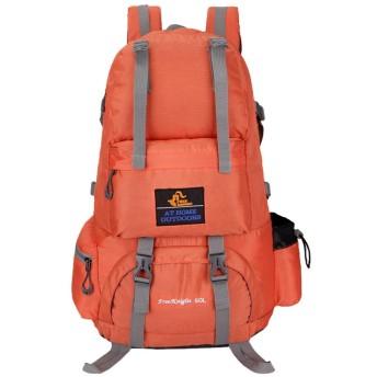 Rayiisuy 登山 リュック 旅行 ハイキング デイパック バックパック 通気性 30L アウトドア リュック サイクリングバッグ 防災 防撥水 リュックサック 多機能 軽量トレッキング 自転車 (オレンジ)