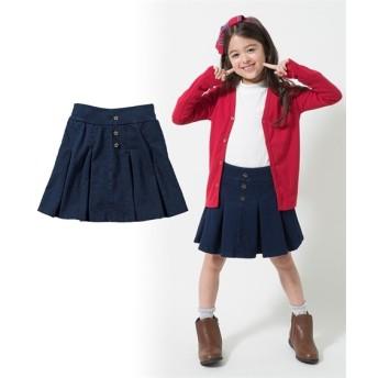 ニットデニムパンツインスカート(女の子 子供服。ジュニア服) キュロット・パンツインスカート・スカート