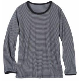 部分配色デザイン長袖Tシャツ Tシャツ・カットソー
