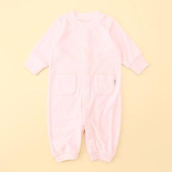 コムサイズム COMME CA ISM パイル 長袖 ツーウェイオール(50-70サイズ) (ピンク)