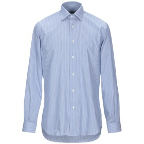 《9/20まで! 限定セール開催中》MILENA メンズ シャツ ブルー 39 コットン 100%