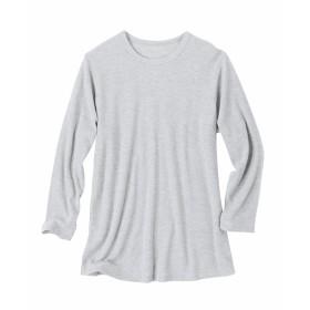 ワッフルクルーネック9分袖Tシャツ Tシャツ・カットソー