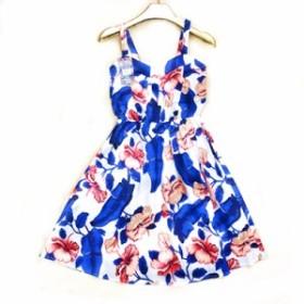 オフショルダー フリルドット 夏のドレス 女性 ストラップ ビーチ Marwin ワンサイズ 青白