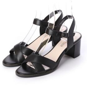 アンタイトル シューズ UNTITLED shoes チャンキーヒールサンダル (ブラック)