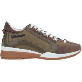 《期間限定 セール開催中》DSQUARED2 メンズ スニーカー&テニスシューズ(ローカット) ミリタリーグリーン 40 革 / 紡績繊維