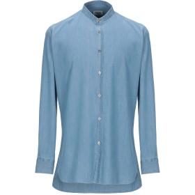 《期間限定 セール開催中》DRUMOHR メンズ デニムシャツ ブルー 39 コットン 100%