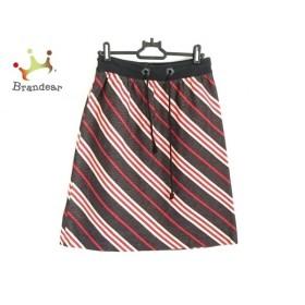 バーバリーブルーレーベル スカート サイズ36 S レディース 美品 黒×アイボリー×レッド   スペシャル特価 20191025
