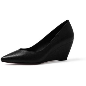 美脚 厚底 ブラック/コンフォート シューズ 24.5cm レディース 24.5cm 24.5cm 靴 パンプス 痛くない 24.5cm ヒール ウェッジ ソール 仕事 ビジュー ストラップ付き 軽量 通気 レディースシューズ 靴 痛くない 疲れない くつ 靴 黒 可愛い ぺたんこ ペタンコ