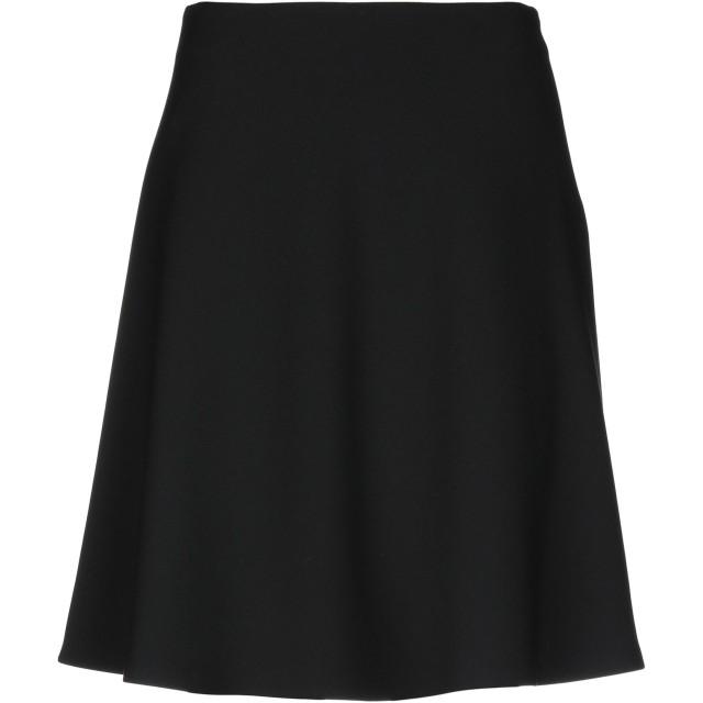 《期間限定 セール開催中》CAPPELLINI by PESERICO レディース ひざ丈スカート ブラック 42 ポリエステル 64% / レーヨン 27% / コットン 6% / ポリウレタン 3%