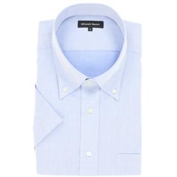 【GRAND-BACK:トップス】【大きいサイズ】形態安定吸水速乾レギュラーフィットボタンダウン半袖ビジネスドレスシャツ
